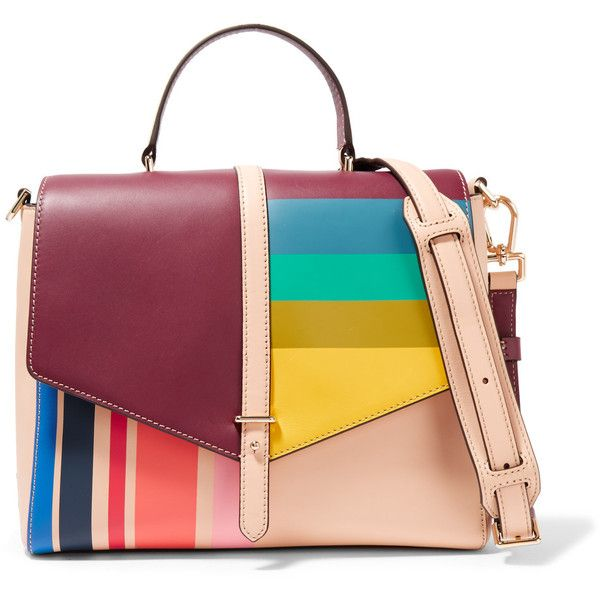 Tory Burch Color Block Leather Tote 8 740 Uah Liked On Polyvore