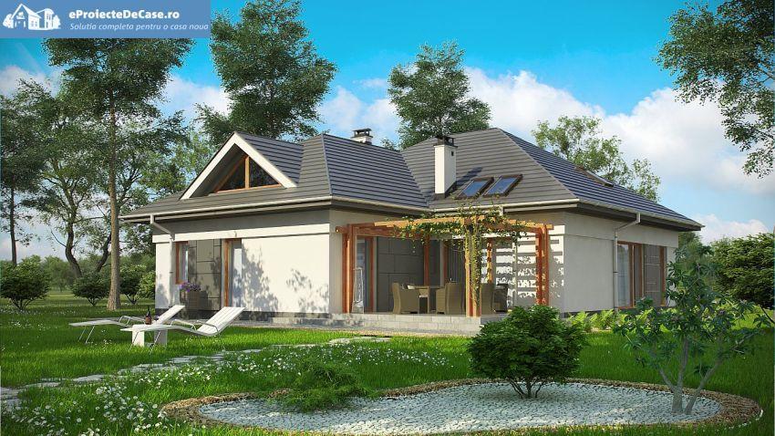 Proiecte case medii cu mansarda si garaj moderne for Proiecte case cu garaj si mansarda