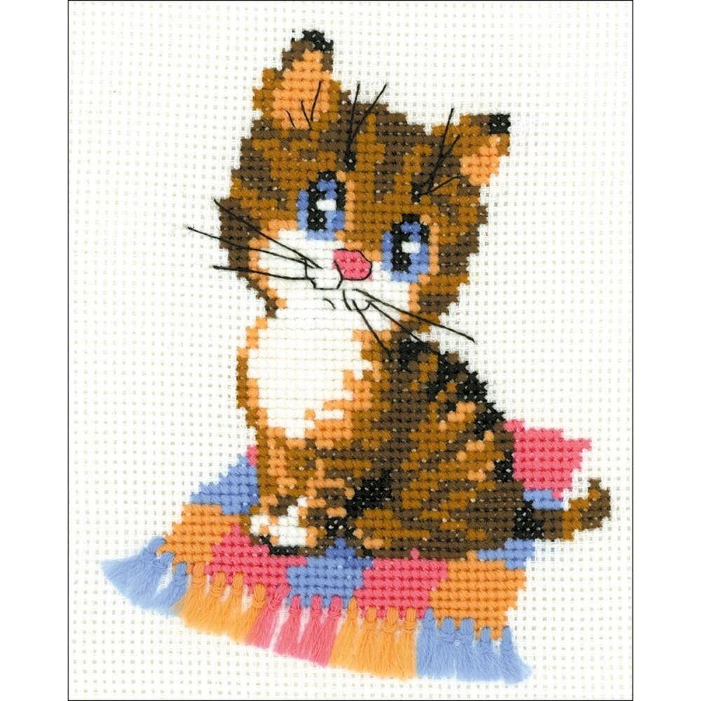 "RIOLIS Counted Cross Stitch Kit 6/""X7/""-Panda 10 Count"