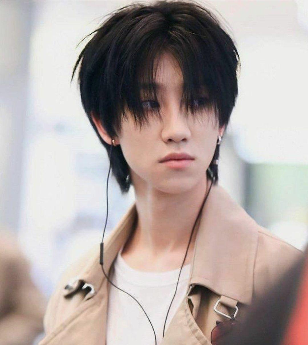 9 Hair Long Black Korean Mullet Hairstyle Seventeen Minghao Seventeen