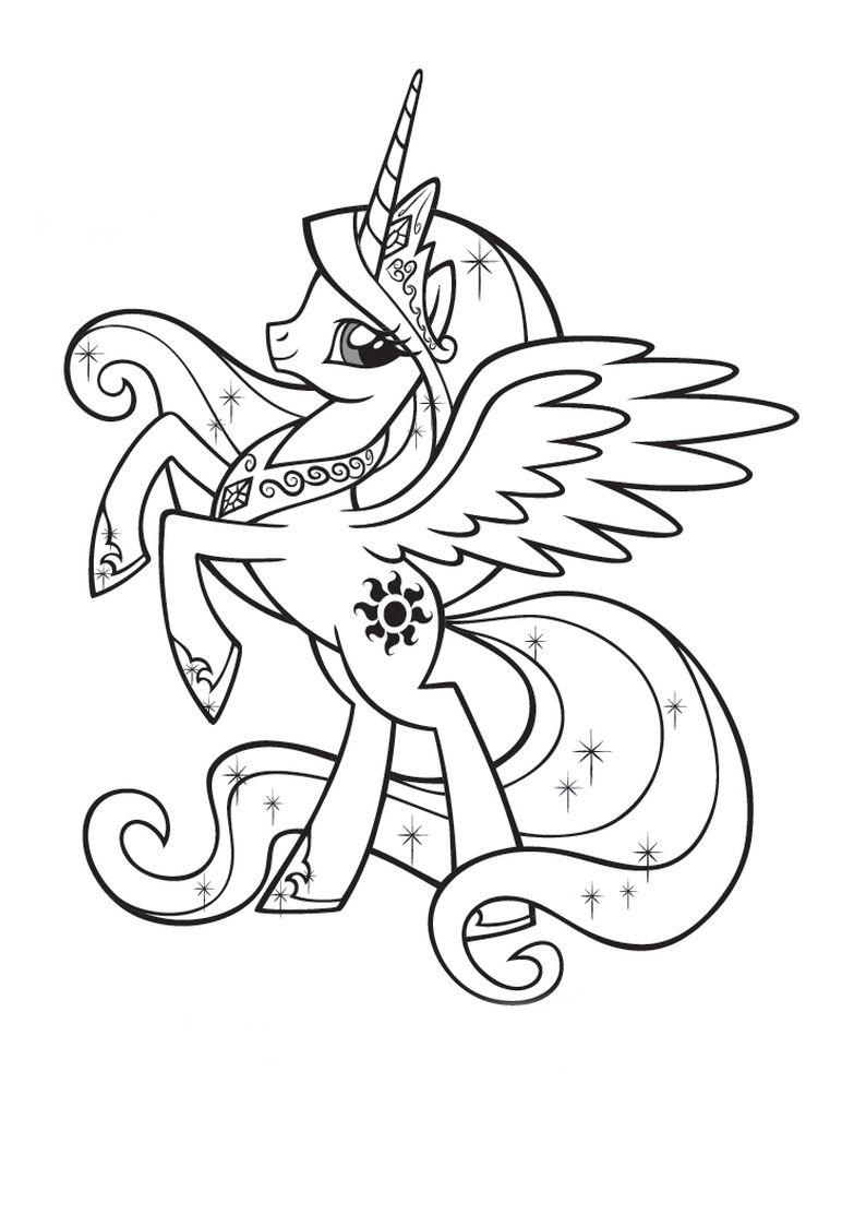 Celestia Pony Szukaj W Google Unicorn Coloring Pages My Little Pony Coloring My Little Pony Unicorn