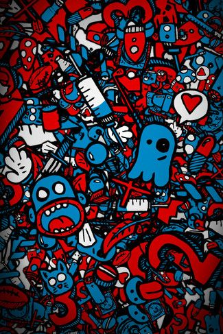 Sketch Iphone 4 4s Wallpaper Papel De Parede Supreme Papeis De