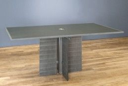 Stone top meeting table and granite top conference tables with stone top meeting table and granite top conference tables with modern steel pedestals and wiring grommets greentooth Gallery