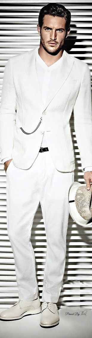 Usher - Love the Bone colored suit with white piping paired with a ...