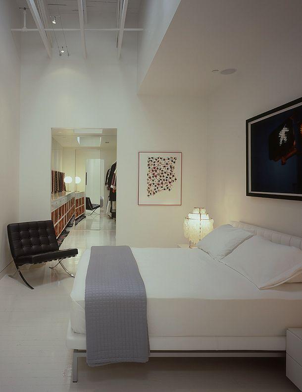 Bedrooms Loft en blanco para un coleccionista