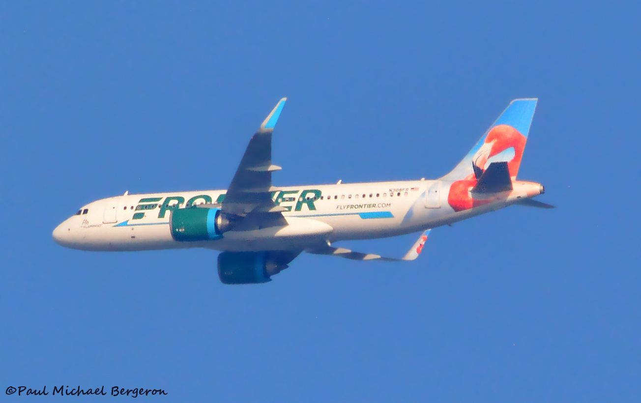Frontier Airlines Airbus A320251N Flo the Flamingo
