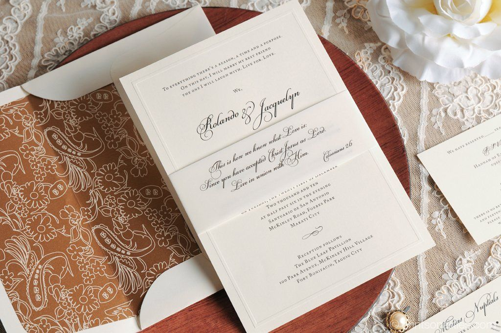 Rolly u0026 Jacq Custom Invitations by