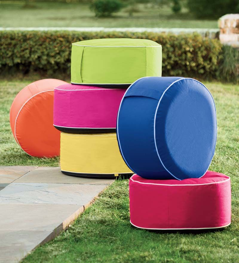 Inflatable Lawn Furniture: Inflatable Outdoor Ottoman Is The Perfect Portable Seating