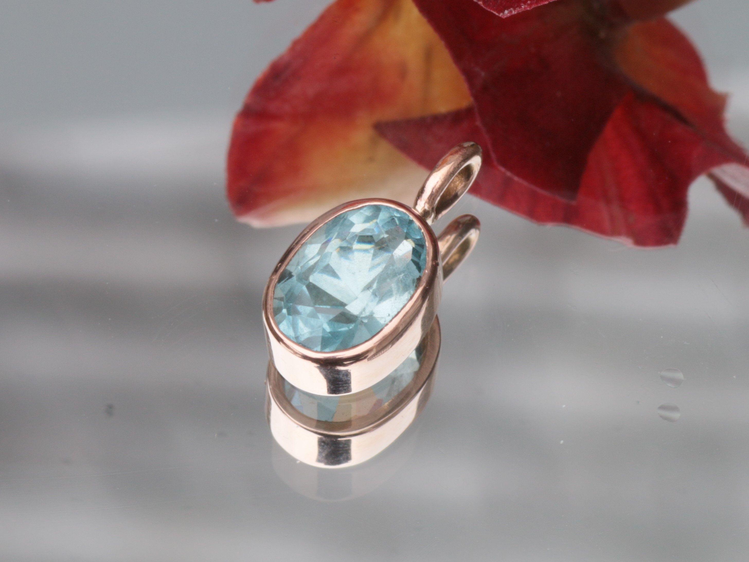 52d69d16c12 Handmade Aquamarine Pendant in 14k Rose Gold Made with 2.5ct Aquamarine  https