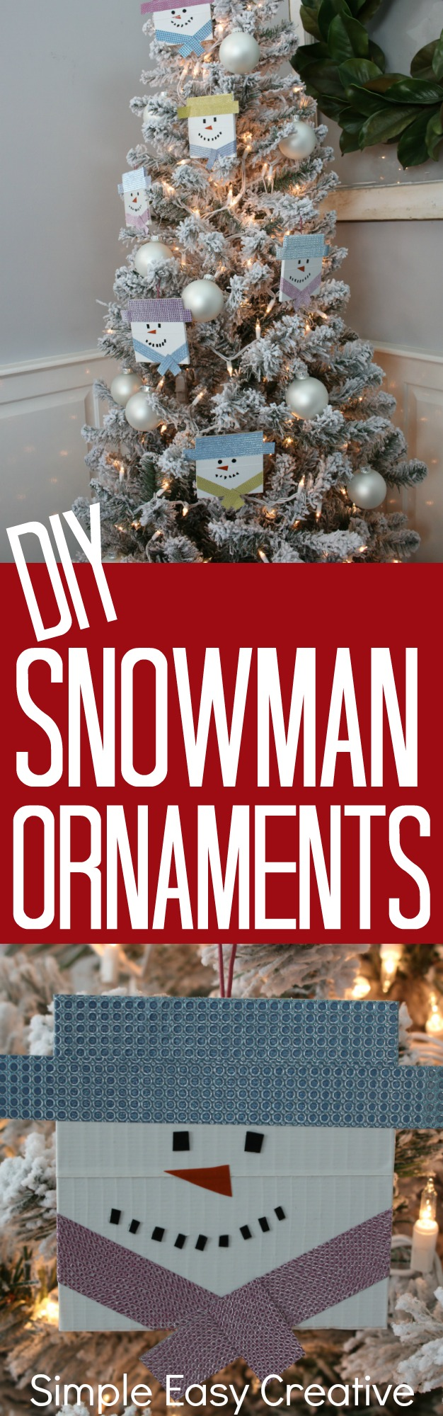 Craft DIY Snowman Ornaments Snowman Ornament