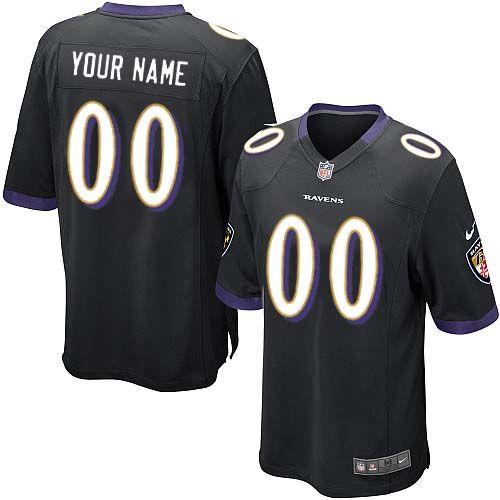 81c007adcc61 ... nike baltimore ravens customized black stitched elite youth nfl jersey