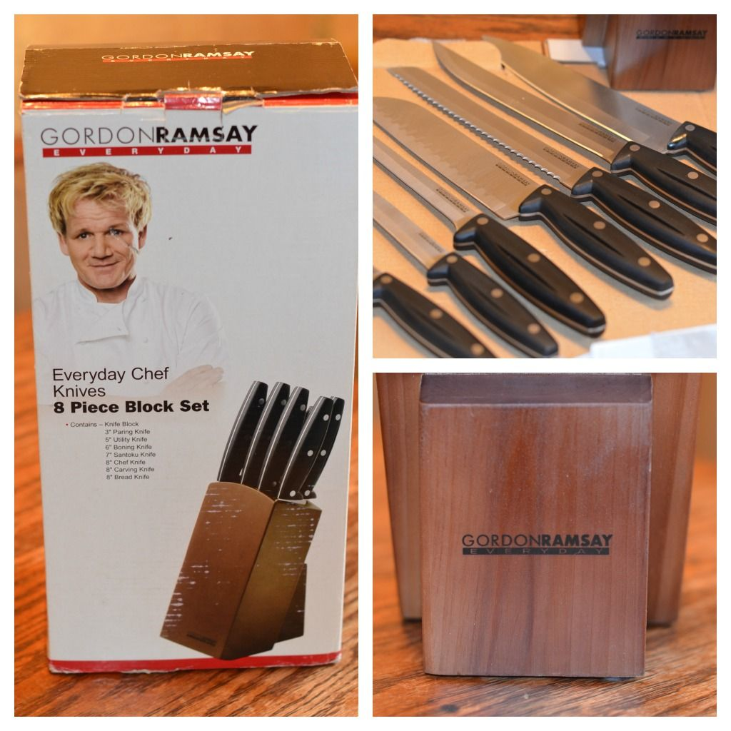 gordon ramsay everyday chef knives 8 piece block set review tools of the trade pinterest. Black Bedroom Furniture Sets. Home Design Ideas