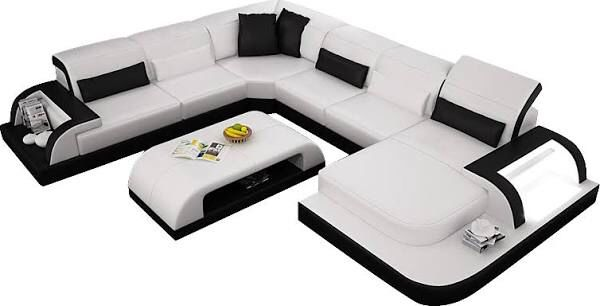 modern waves leather sectional sofa with chaise lounge opulent rh pinterest com