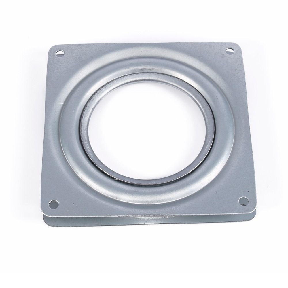 "Lazy Susan Parts Best Lazy Susan Turntable Bearing 4"" Square Rotating Swivel Plate Metal Design Decoration"