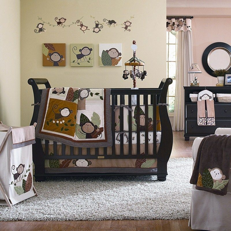 Monkey Nursery From Burlington Coat Factory Too Cute Baby Boy