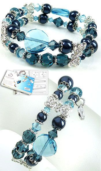 Very classy and shiny bracelet Great DIY jewelry project