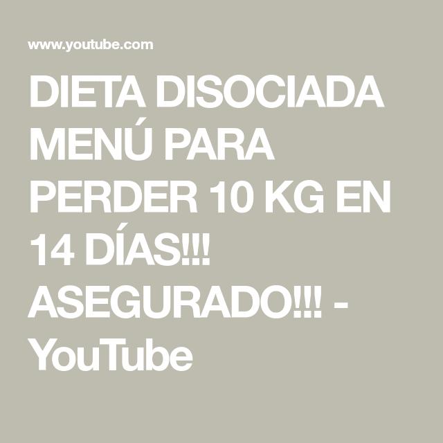 dietas disociadas para perder peso rapido