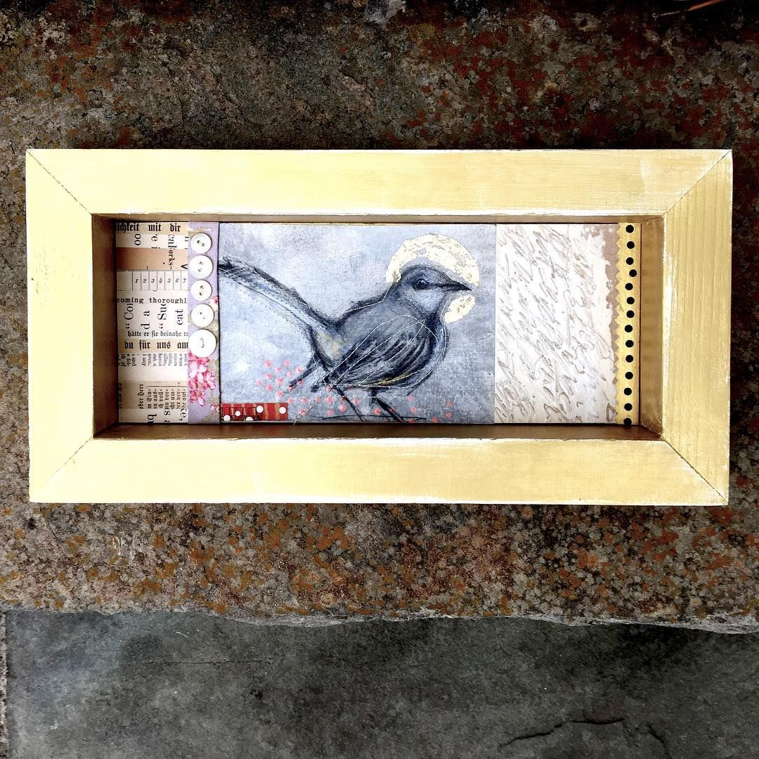 Turning Some Of My Bird Sketches Into Shadow Box Collage Pieces