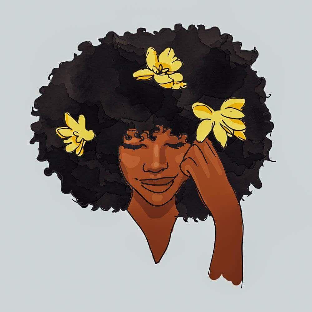 Neetzie AfroCartoons Pinterest Natural hair art Afro art and