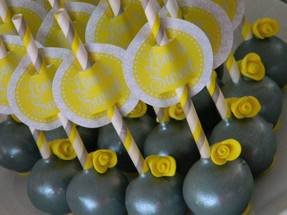12 Grey and Yellow Wedding Reception Birthday