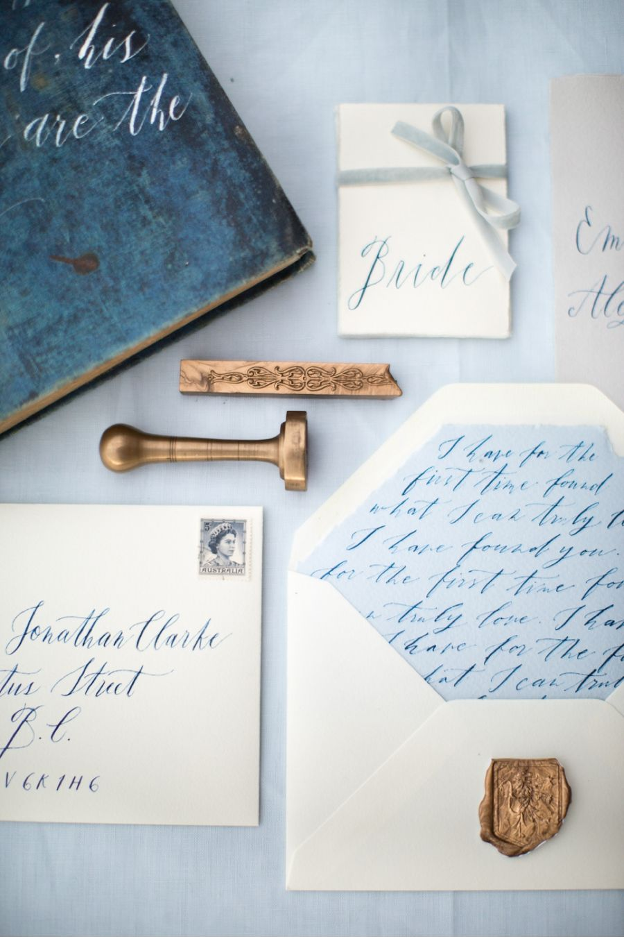 Wedding Photography Ideas blue white invitations