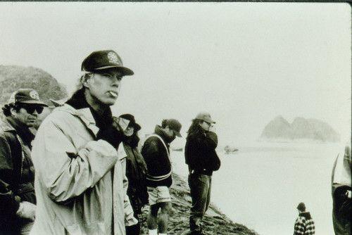 Jim Jarmusch on the set of Dead Man (1995)