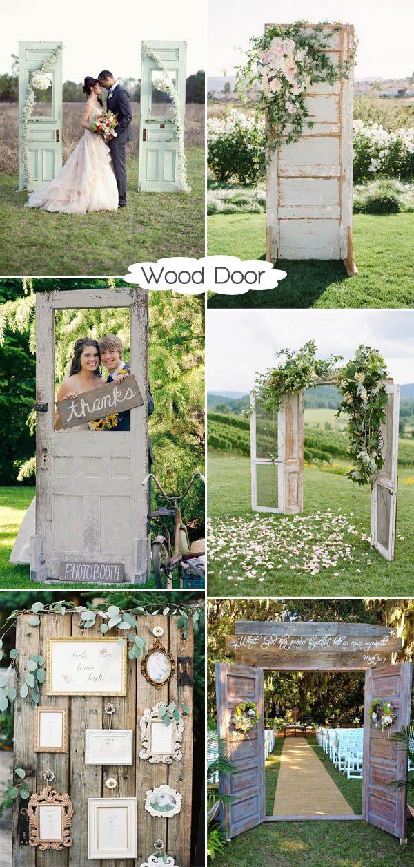 wood door rustic wedding decoration ideas 50