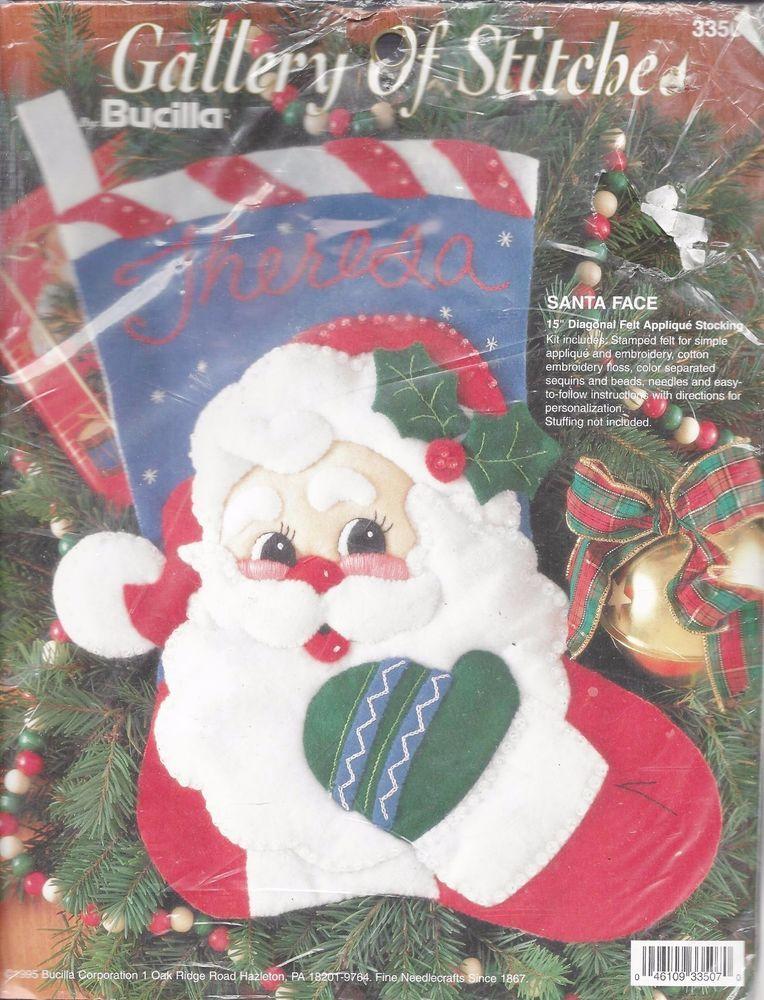 Christmas Stocking Santa Face Kit 15 Diagonal