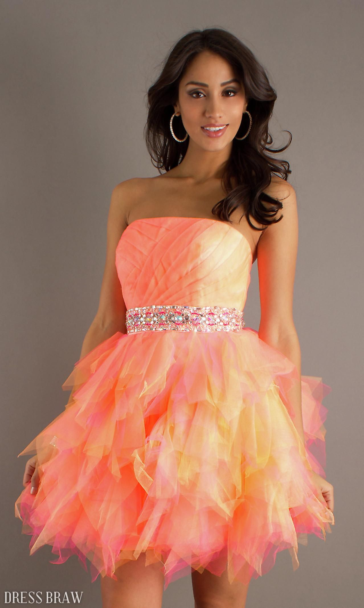 Charming A-line Strapless Mini/Short Cocktail/Sweet Sixteen Dress ...