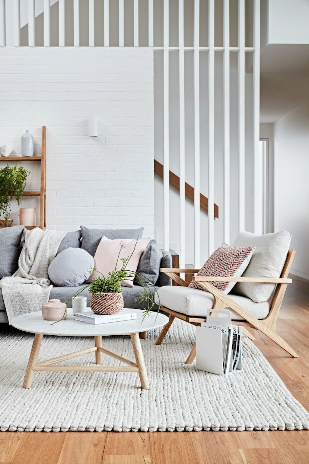 Gorgeous 55 Stunning Scandinavian Living Room Interior
