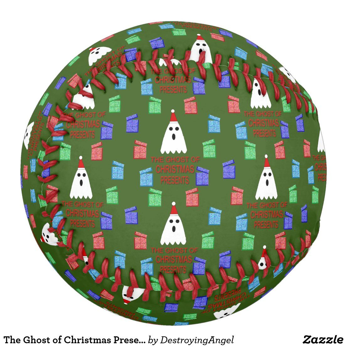 The Ghosts Of Christmas Eve 2020 The Ghost of Christmas Presents Funny Softball | Zazzle.in