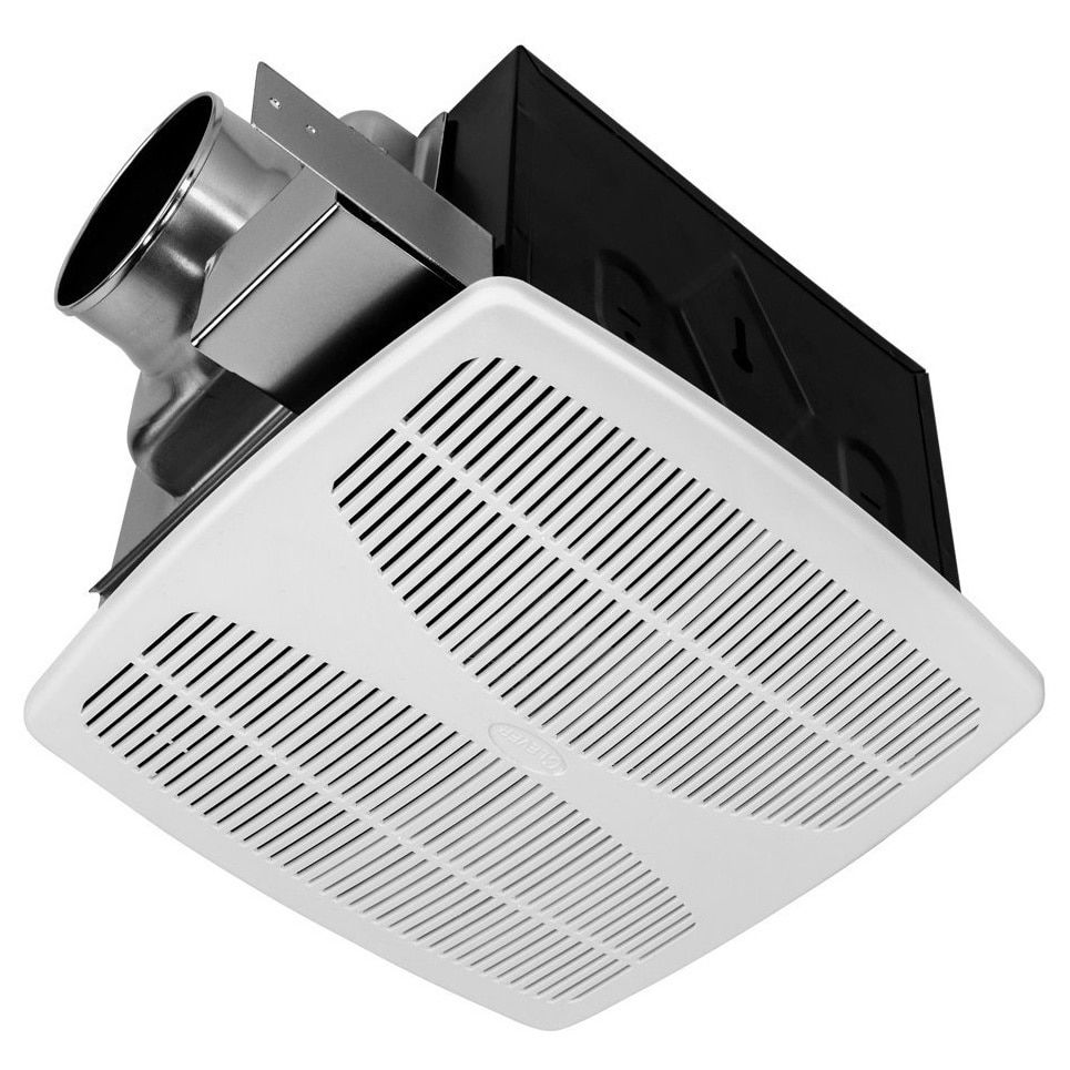 White Inc. KAZE APPLIANCE SE90TL2 Ultra Quiet 90-CFM 0.3-Sones Bathroom Exhaust Fan with LED and Night Light