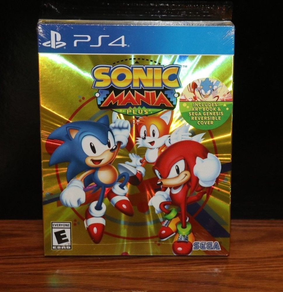 NEW SEALED) SONIC MANIA PLUS PS4 KIDS GAMES PLAYSTATION 4