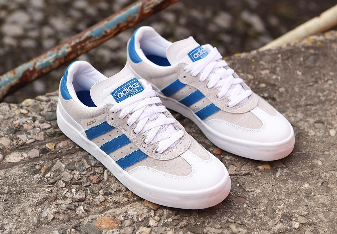 100% high quality order wholesale adidas Skateboarding /// Busenitz Vulc RX Crystal White Blue. V ...
