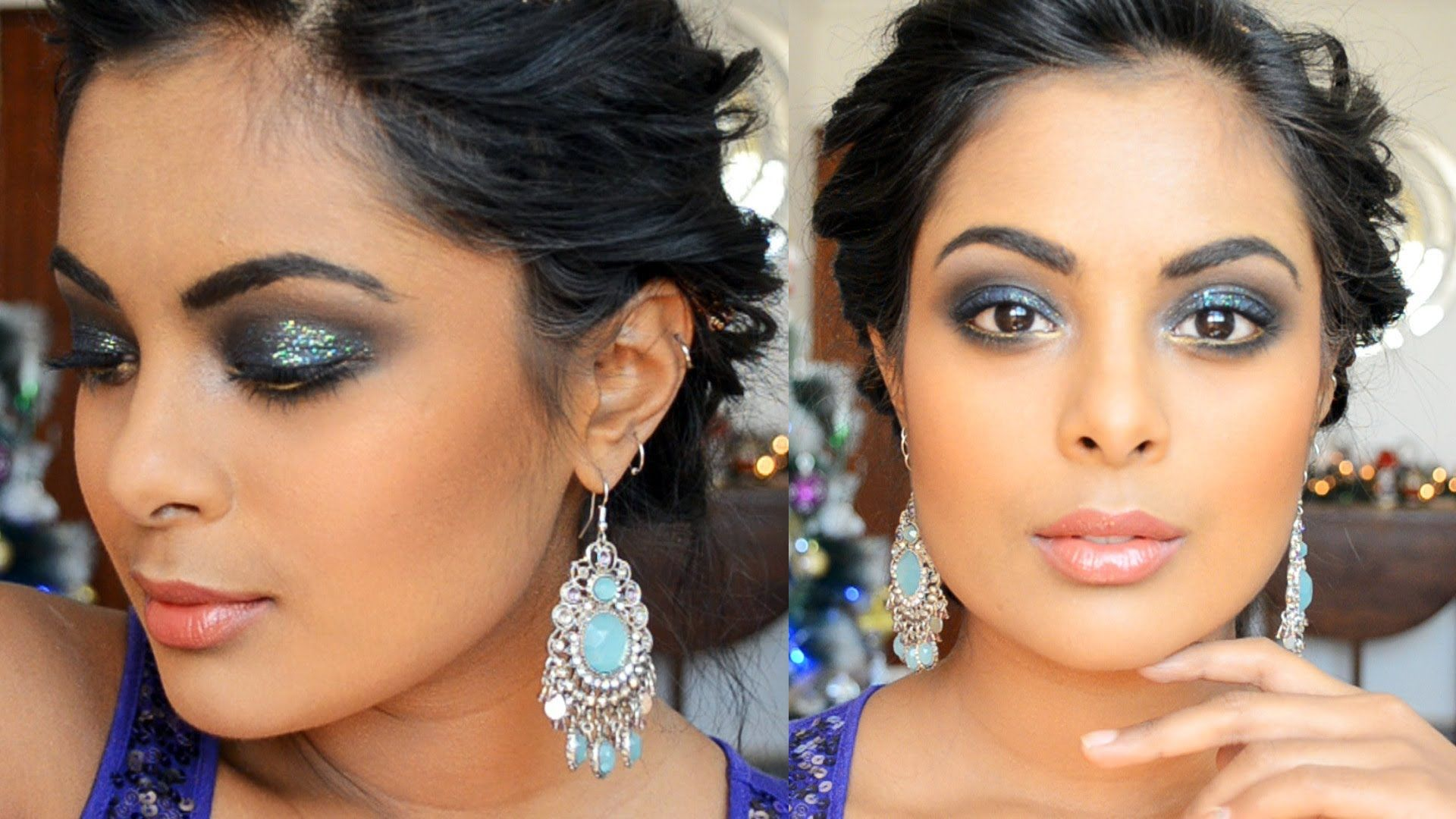 Glitter Smokey eyes for tan / Indian skin or medium dark