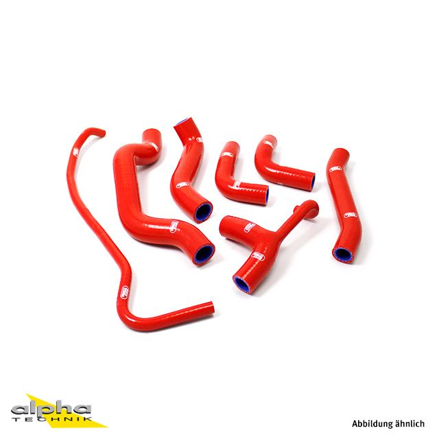 Siliconschlauch Kit rot Ducati Monster 821/1200(S)