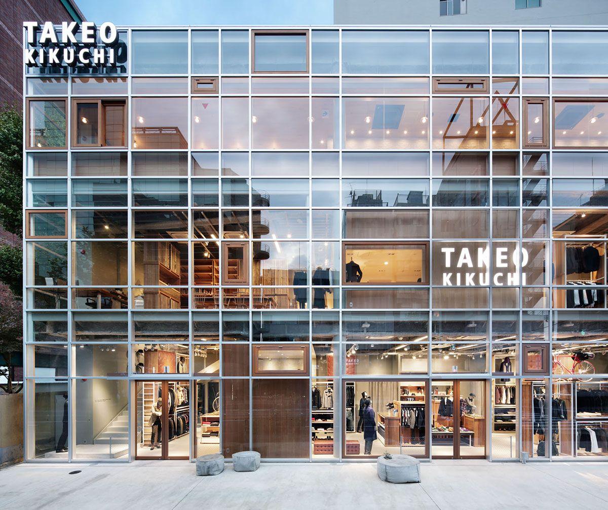 Shop Front Design Retail: Takeo Kikuchi Shibuya Schemata Architects