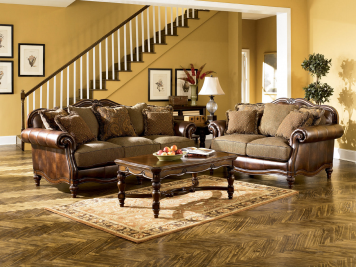 To Own Living Room Furniture Premier Al Purchase Located In Dayton Ashley Claremore Antique Sofa And Loveseat