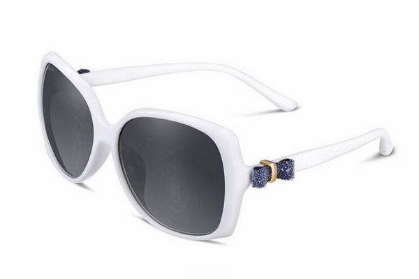 Butterfly Polarized Sunglasses Womens Oversized Bowknot White Frame