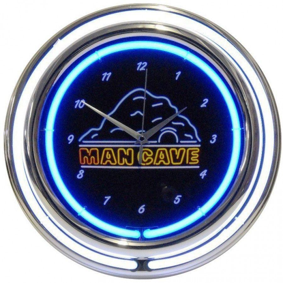 Man Cave Clock : Neonetics man cave double neon clock mancd