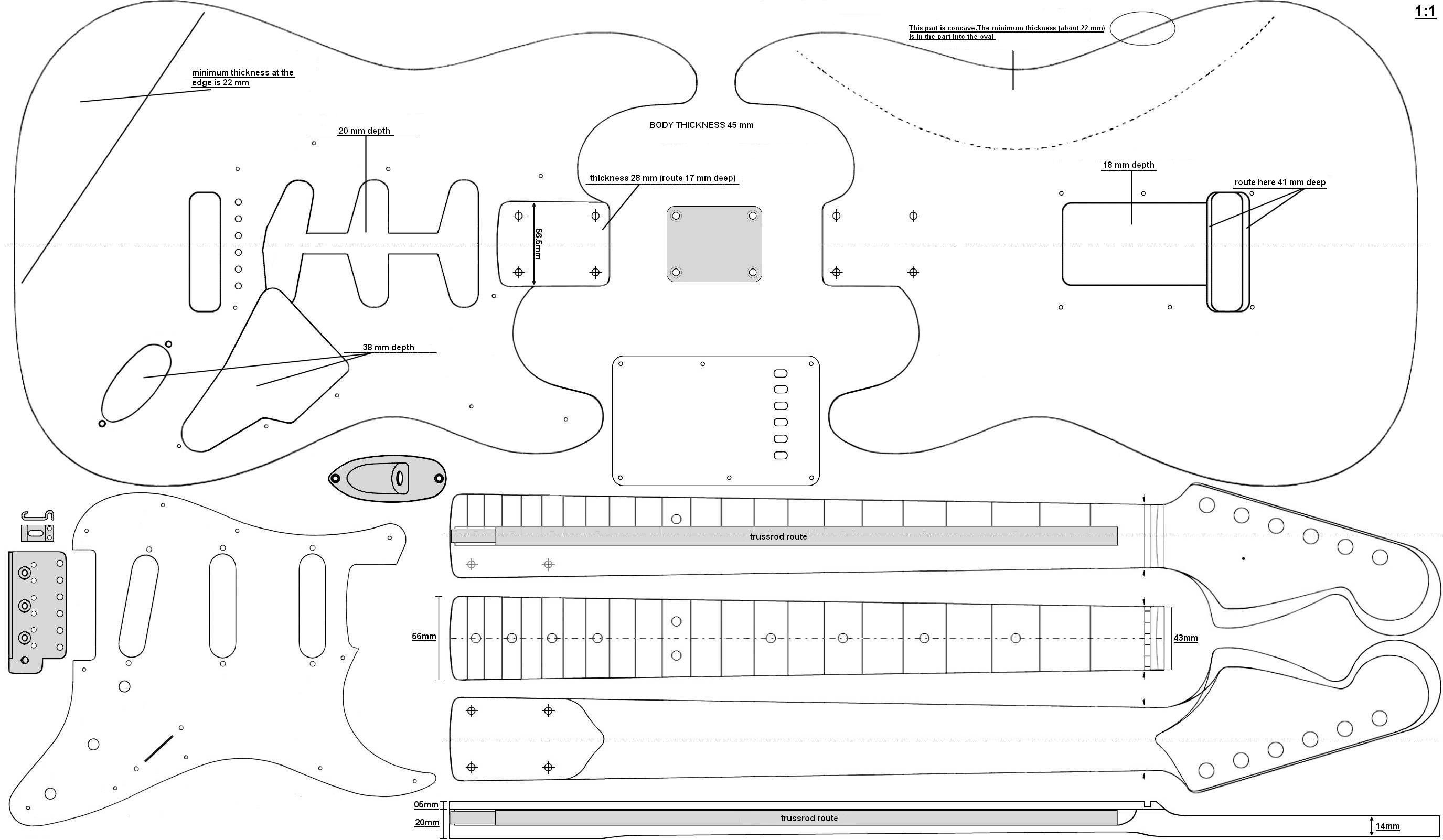 Super strat google 39 da ara guitars pinterest for Electric guitar body templates