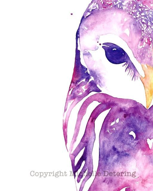 Hey I Found This Really Awesome Etsy Listing At Https Www 247666104 Owl In Pink Watercolor Print