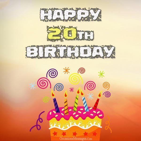20th Birthday Cards Birthday Pinterest 20th Birthday Birthday