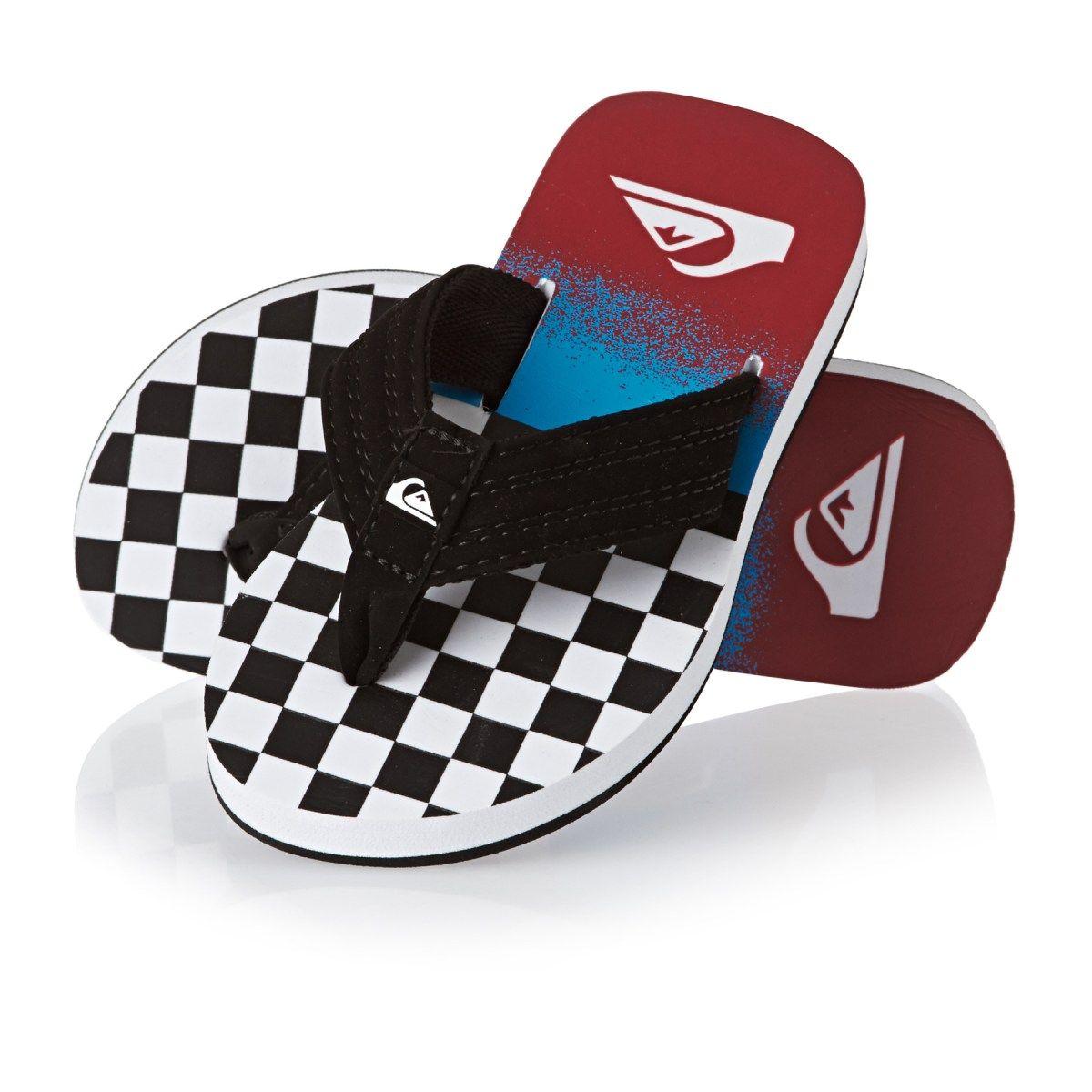 5647ced43045 Quiksilver Flip Flops - Quiksilver Basis Boy Flip Flops - Black Blue ...