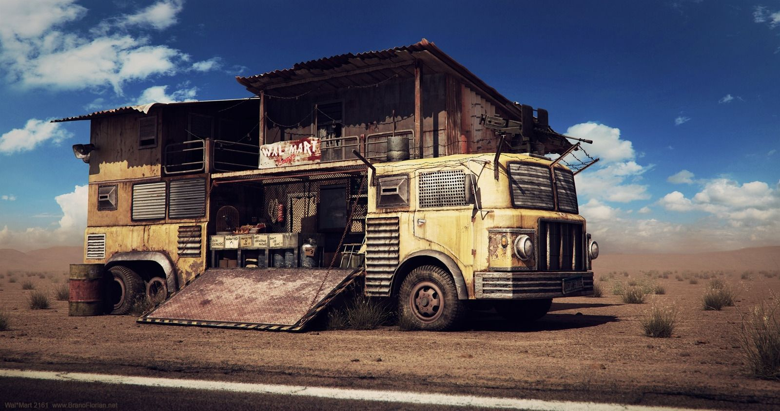 Wal-mart 2161 3d Truck Fallout Post