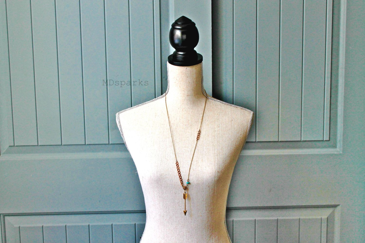 Long Arrow Necklace by MDsparks on Etsy