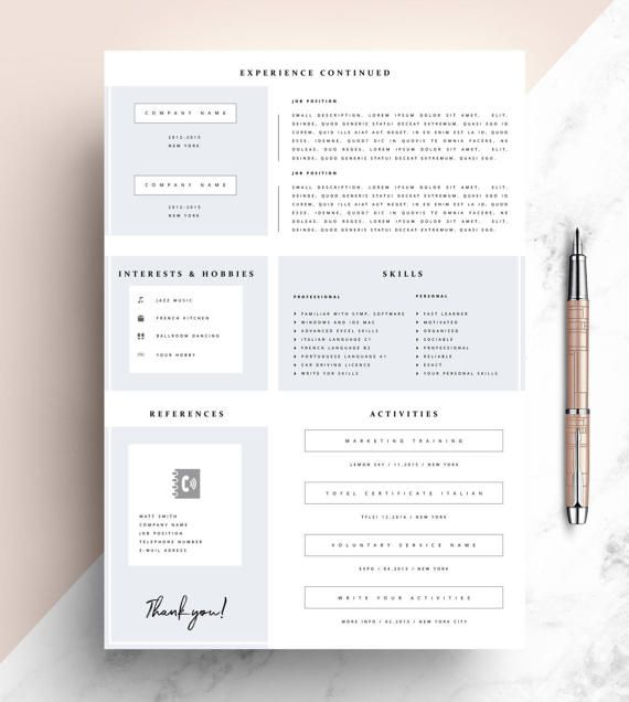 Professional Resume Template, CV Template Editable in MS Word and - how to get a resume template on microsoft word 2007
