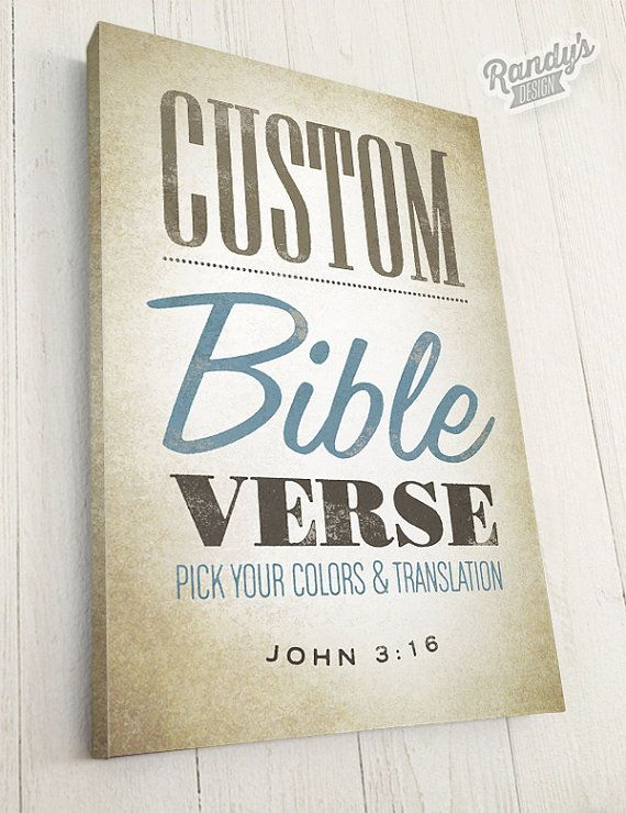 Custom Bible Verse On Canvas Scripture Wall Art Christian Etsy Scripture Wall Art Custom Bible Christian Wall Art