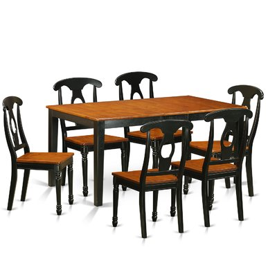 august grove pillar traditional 7 piece wood dining set products rh pinterest com