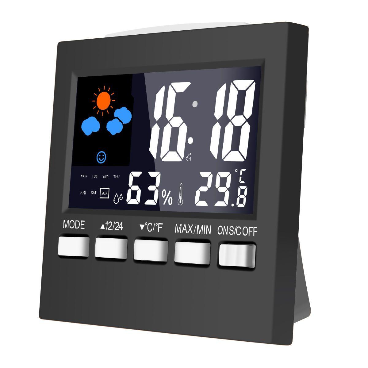 Loskii DC 001 Digital Temperature Humidity Alarm Clocks